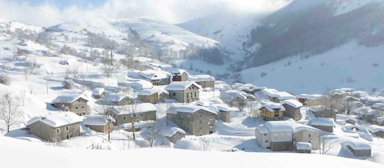 Sotres con nieve